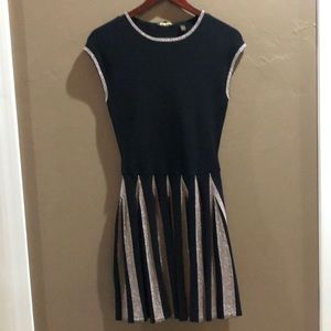 Ted Baker black and gold dress size 2